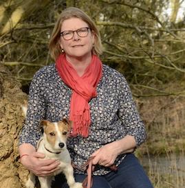 Annelie met hond Sammie
